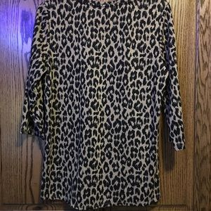 Chico's leopard print sweater